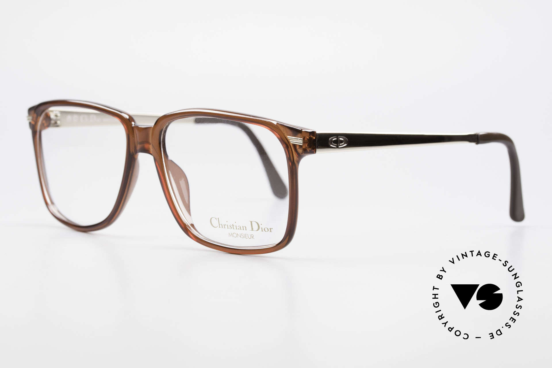 Christian Dior 2460 80's Frame Monsieur Series, synthetic Optyl frame and gold-plated temples, Made for Men