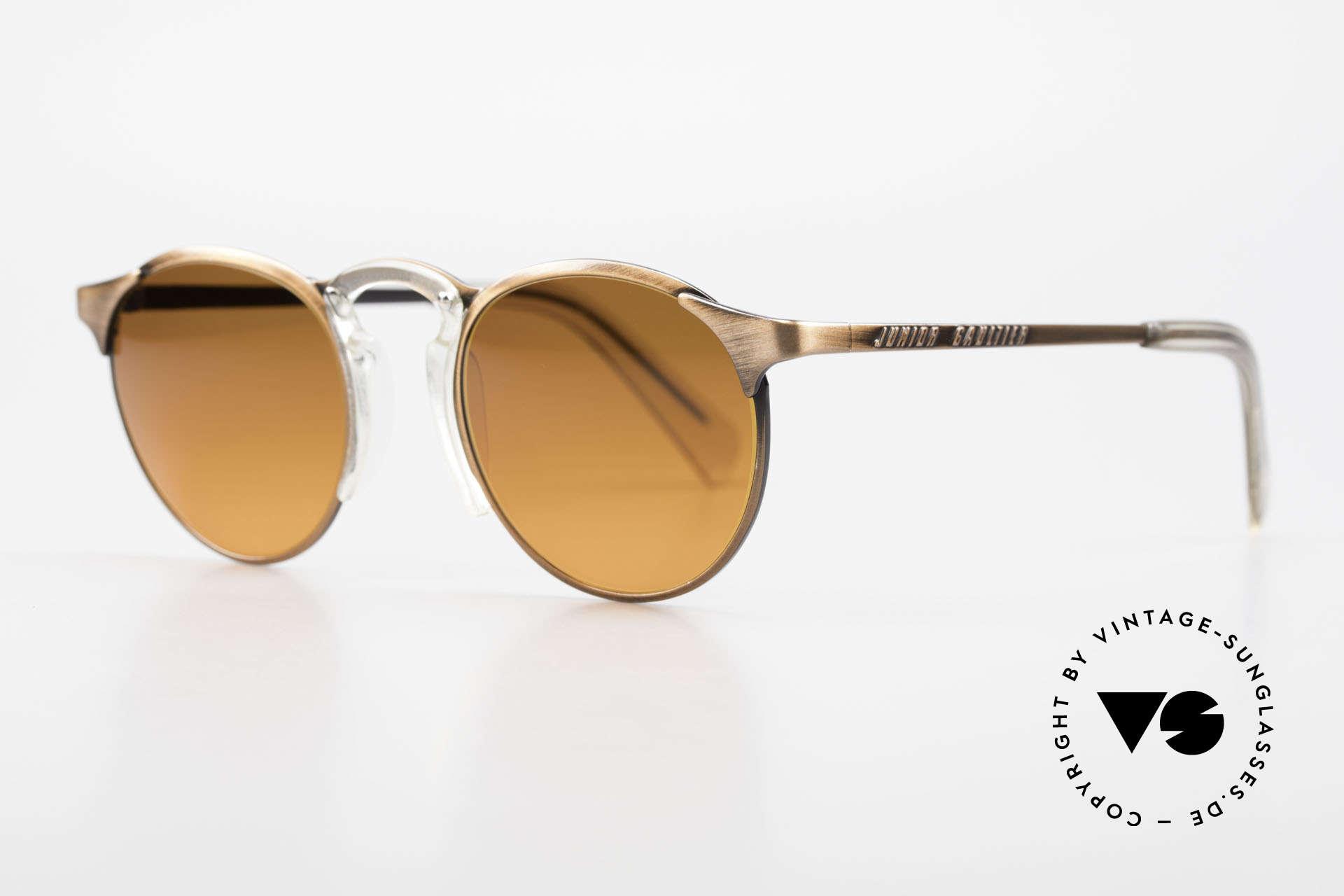 Jean Paul Gaultier 57-0174 90's JPG Panto Sunglasses, outstanding craftsmanship (frame made in Japan), Made for Men