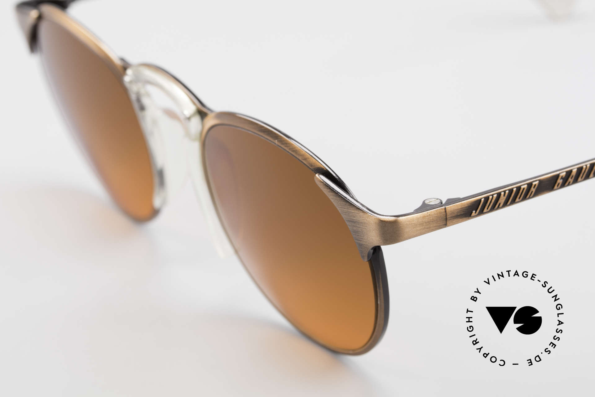 Jean Paul Gaultier 57-0174 90's JPG Panto Sunglasses, unused, NOS (like all our Haute Couture sunglasses), Made for Men