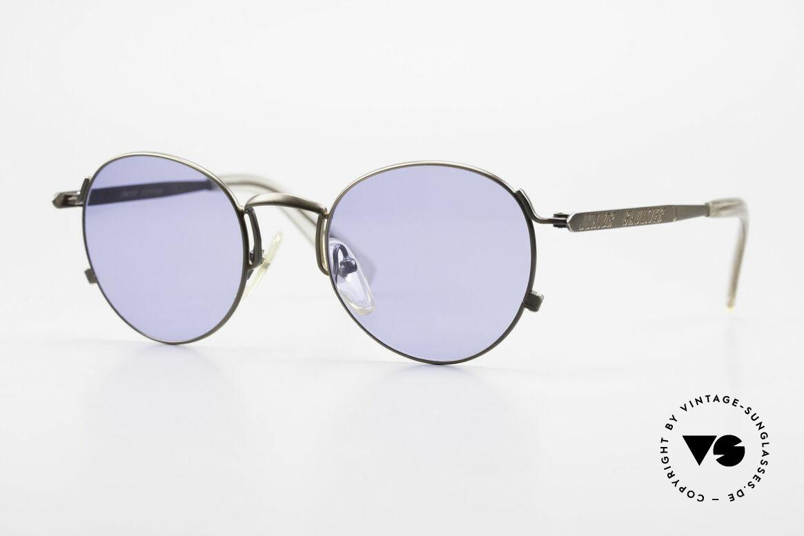 Jean Paul Gaultier 57-1171 90's Designer Sunglasses JPG, high-end PANTO designer shades by J.P. Gaultier, Made for Men and Women