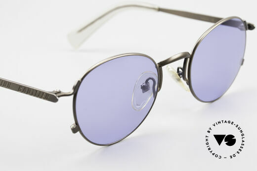 Jean Paul Gaultier 57-1171 90's Designer Sunglasses JPG, the sun lenses can be replaced with optical lenses, Made for Men and Women