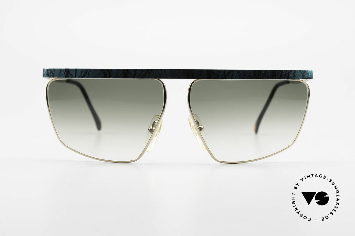 Casanova CN7 Luxury Sunglasses Gold-Plated, GOLD-PLATED metal frame with green-marbled bar, Made for Men and Women