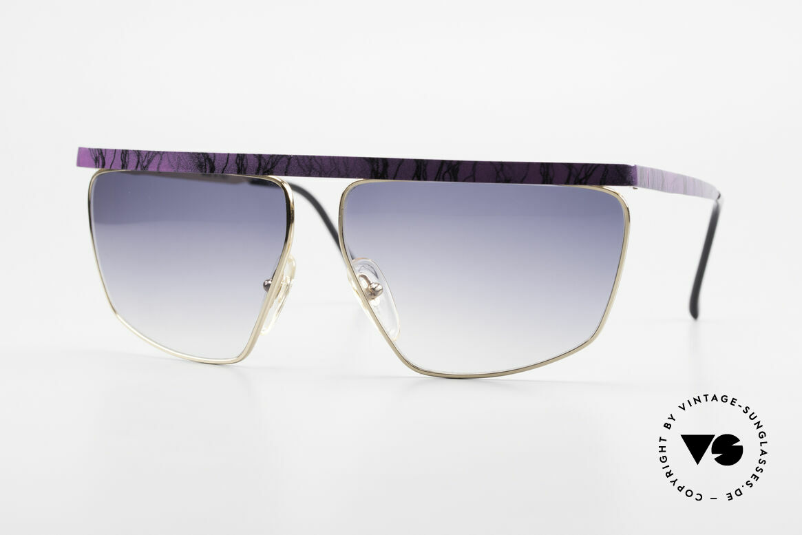 Casanova CN7 Gold-Plated Luxury Sunglasses, excentric Italian XL sunglasses design by Casanova, Made for Men and Women