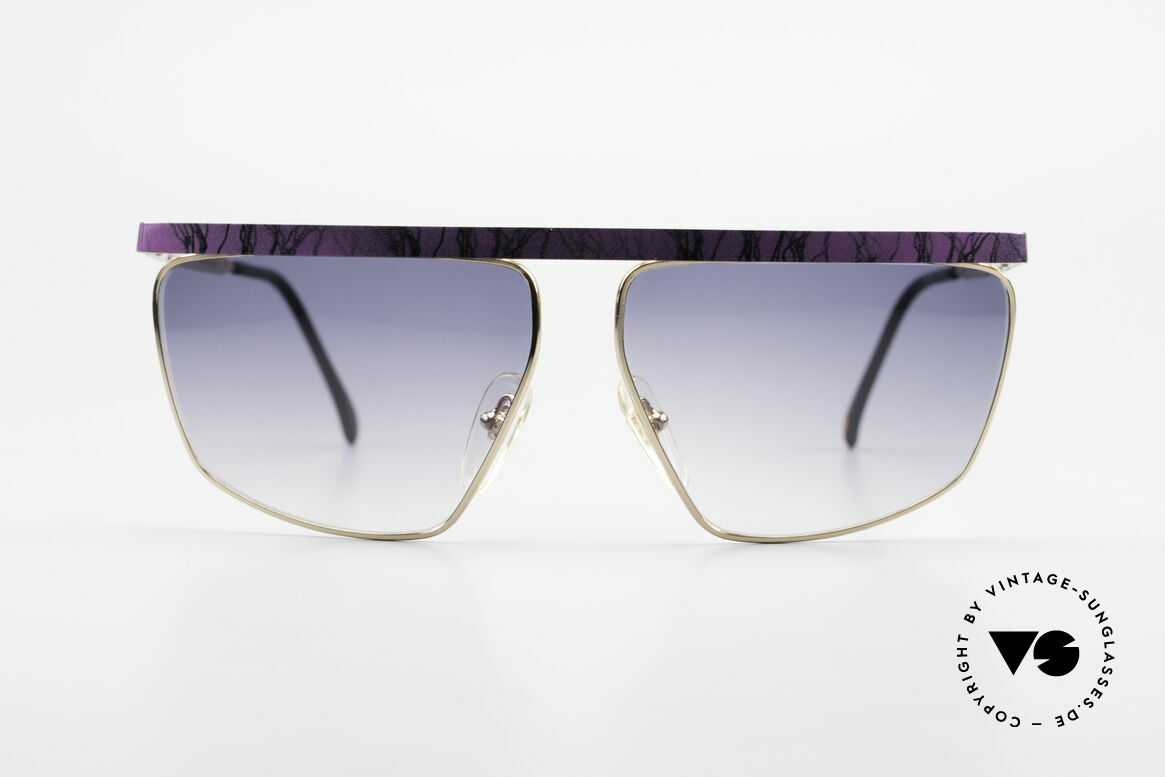 Casanova CN7 Gold-Plated Luxury Sunglasses, GOLD-PLATED metal frame with purple-marbled bar, Made for Men and Women