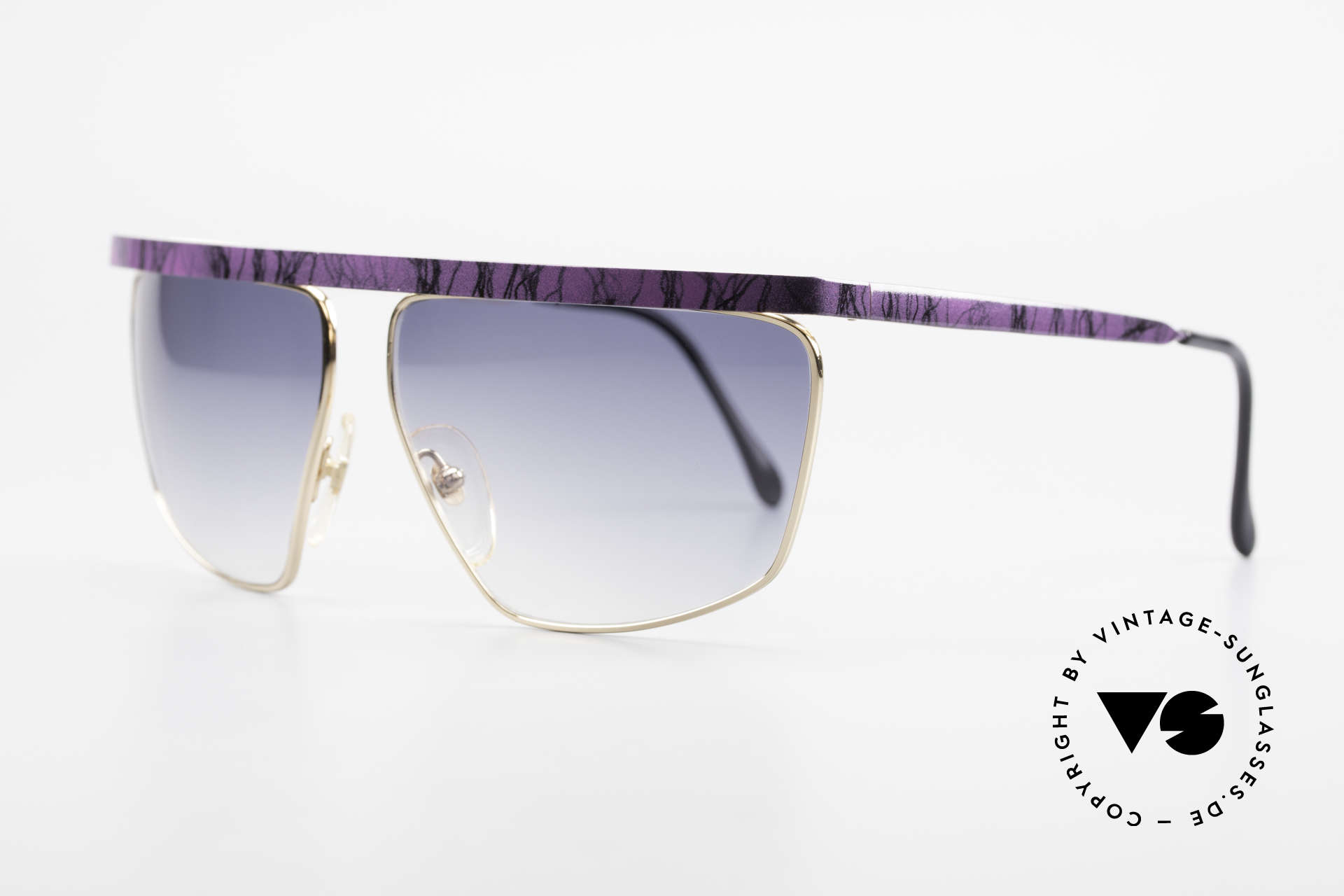 Casanova CN7 Gold-Plated Luxury Sunglasses, blue-gradient sun lenses (for 100% UV protection), Made for Men and Women