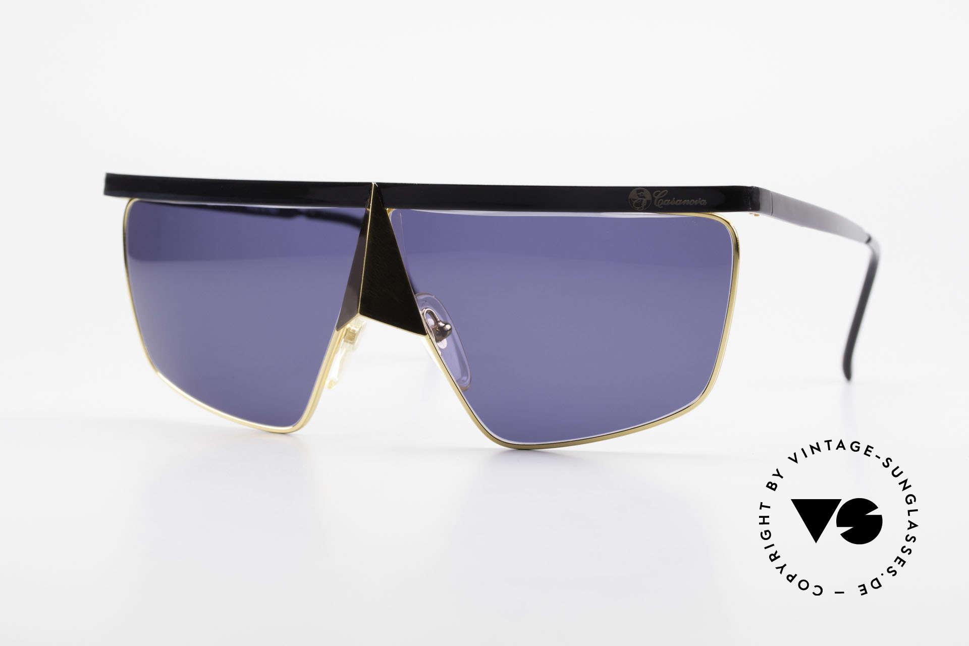 Casanova FC10 24kt Noseguard Sunglasses, interesting Casanova 'nose sunglasses' from app. 1985, Made for Men and Women