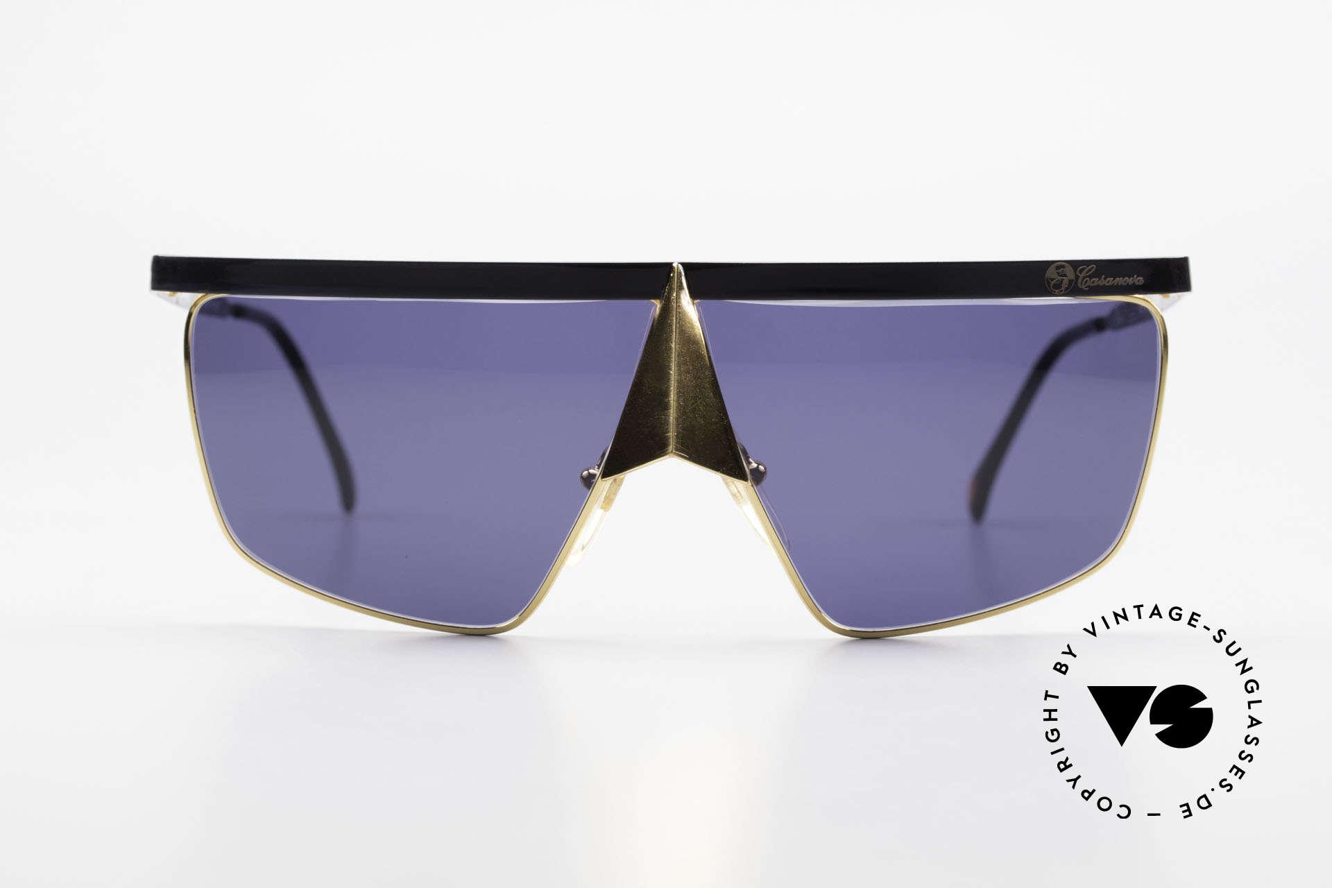 Casanova FC10 24kt Noseguard Sunglasses, distinctive Venetian design in style of the 18th century, Made for Men and Women