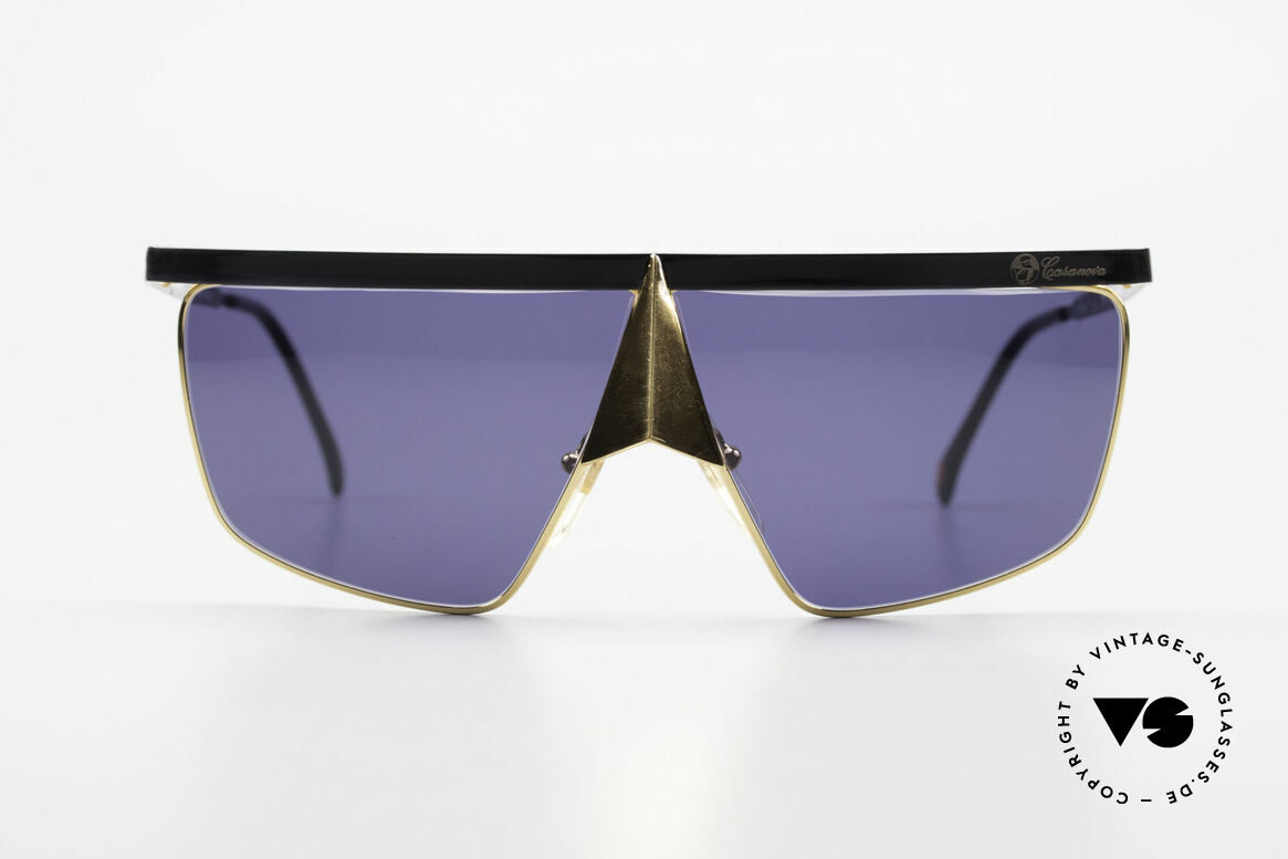 Casanova FC10 24kt Noseguard Sunglasses, distinctive Venetian design in style of the 18th century, Made for Men and Women