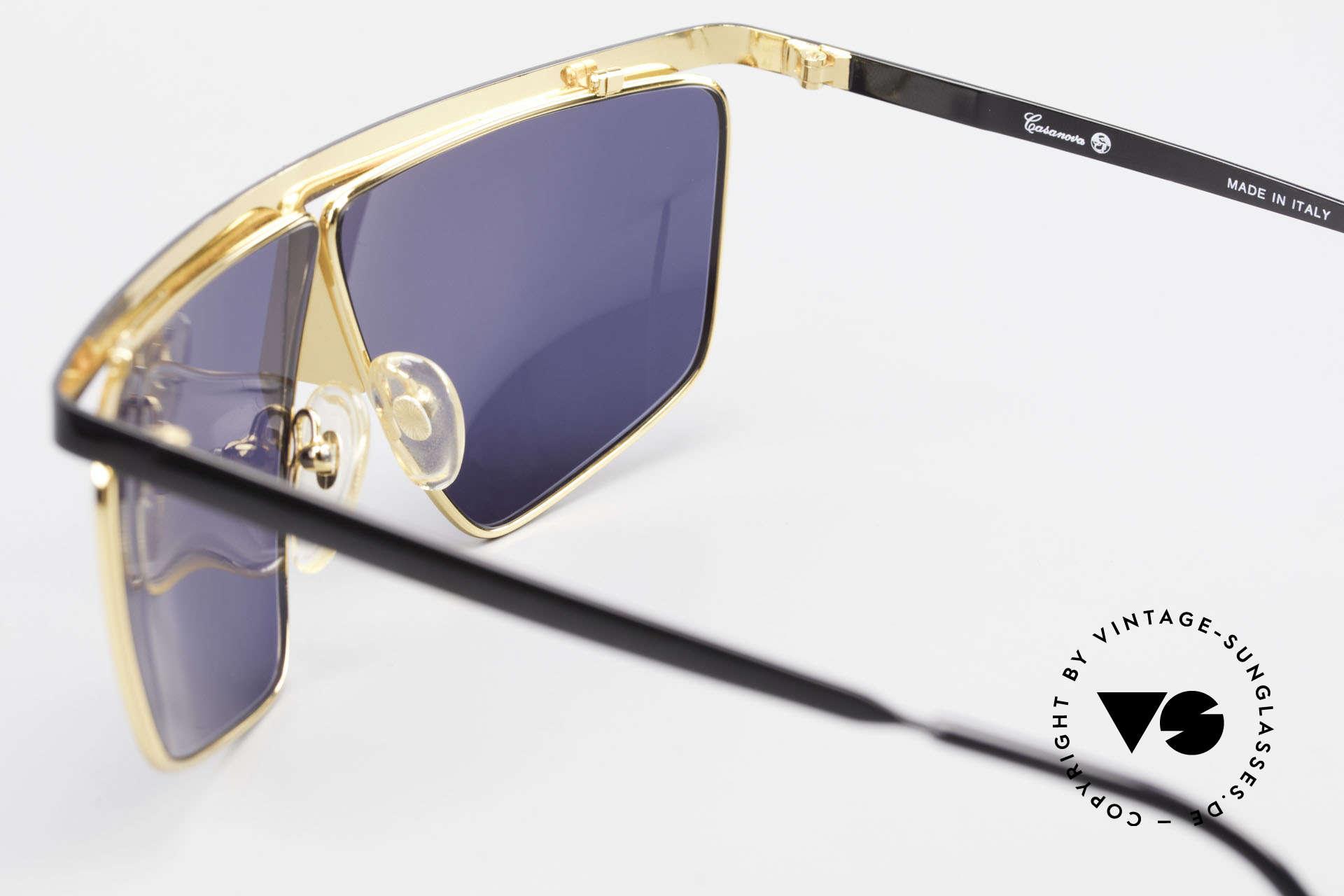 Casanova FC10 24kt Noseguard Sunglasses, NOS - unworn (like all our artistic vintage eyeglasses), Made for Men and Women