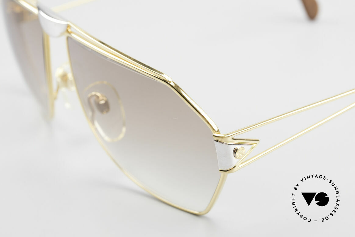 St. Moritz 403 Luxury Jupiter Sunglasses 80s, precious materials (gold-plated and platinum-plated), Made for Men