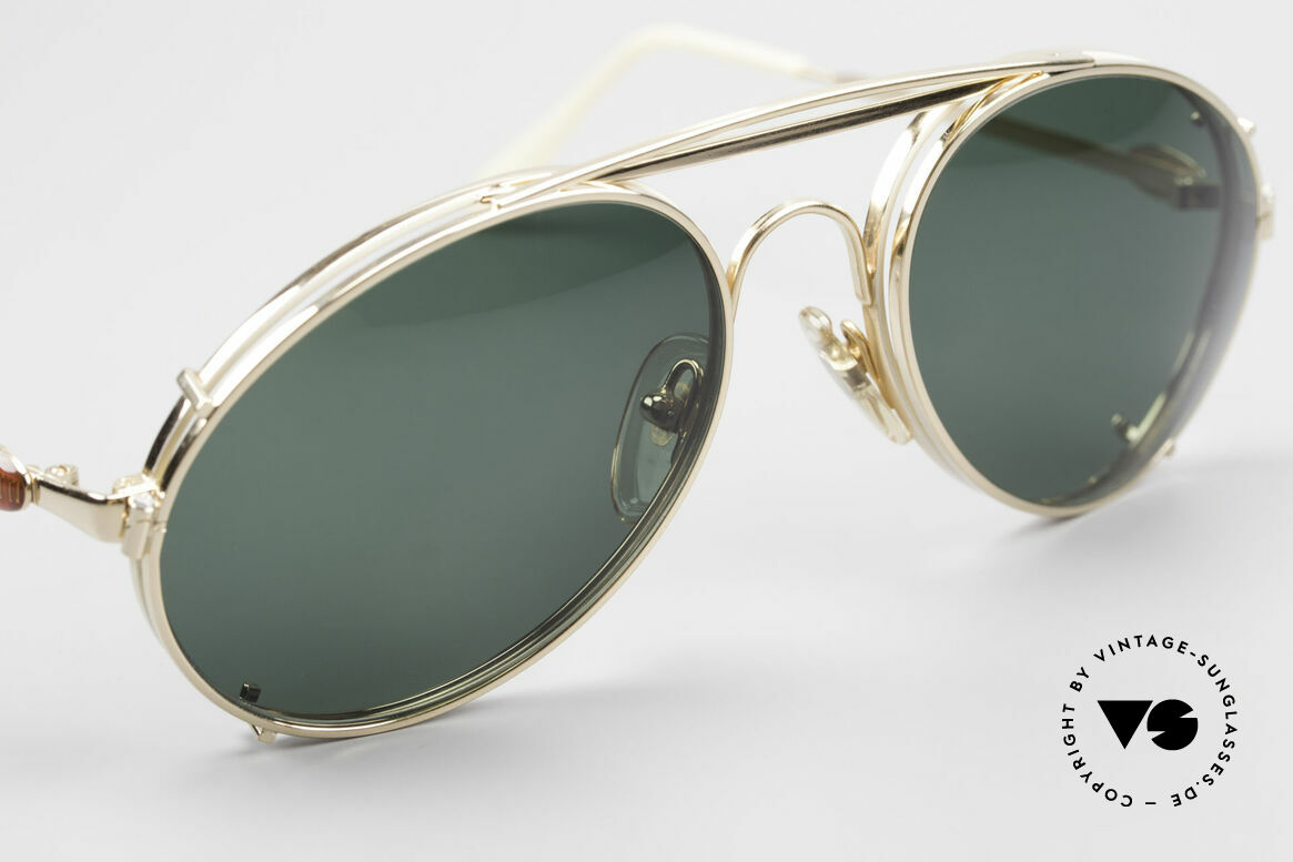 Bugatti 65987 Gold Plated Frame Clip On, unworn; like all our vintage Bugatti sunglasses, Made for Men