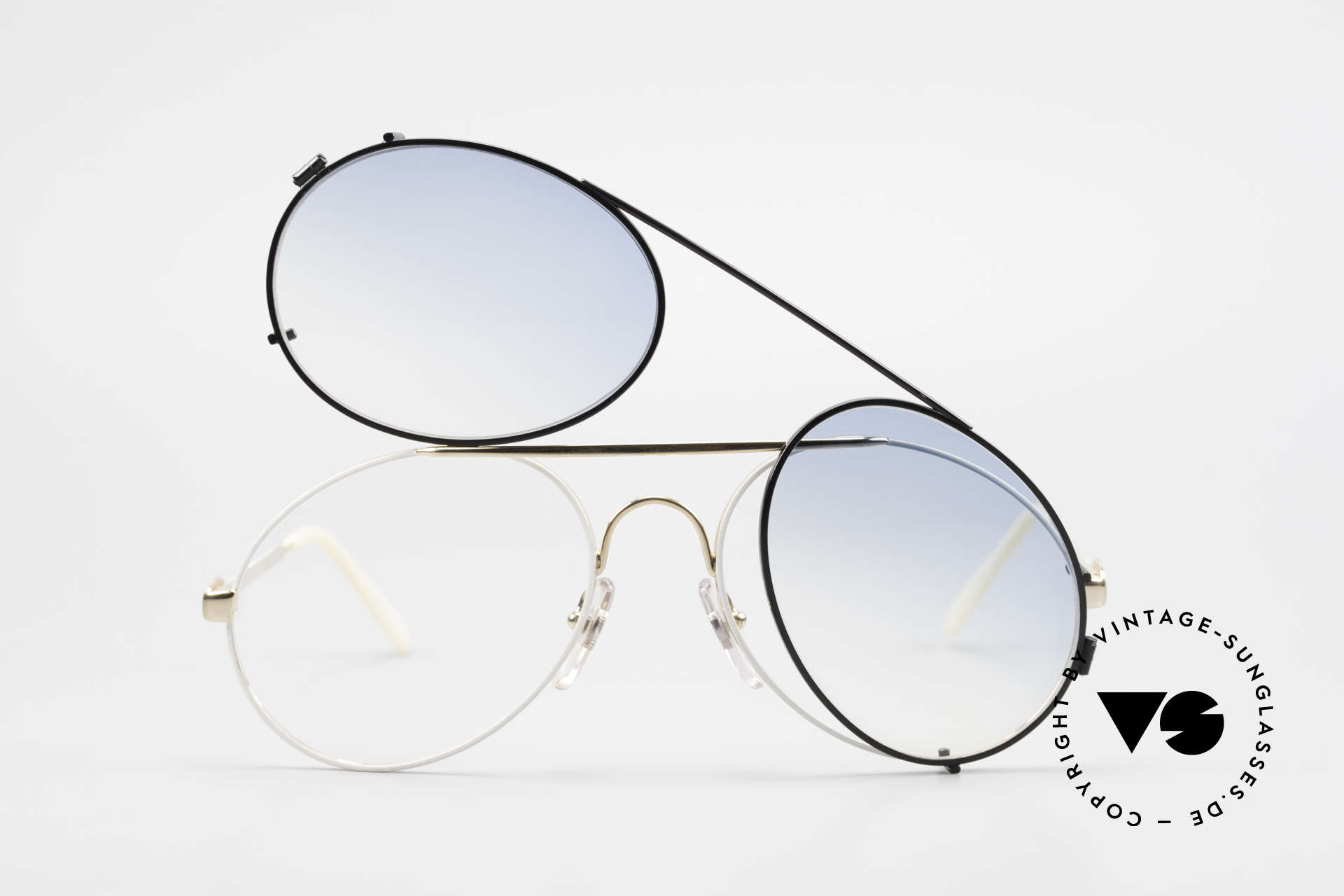Bugatti 65987 Vintage Frame With Clip On, unworn; like all our vintage Bugatti sunglasses, Made for Men