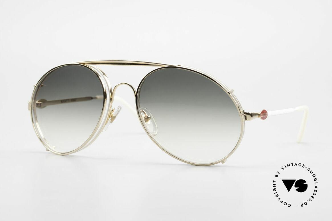 Bugatti 65987 XL 80's Vintage Frame Clip On, rare VINTAGE Bugatti 80's luxury sunglasses, Made for Men