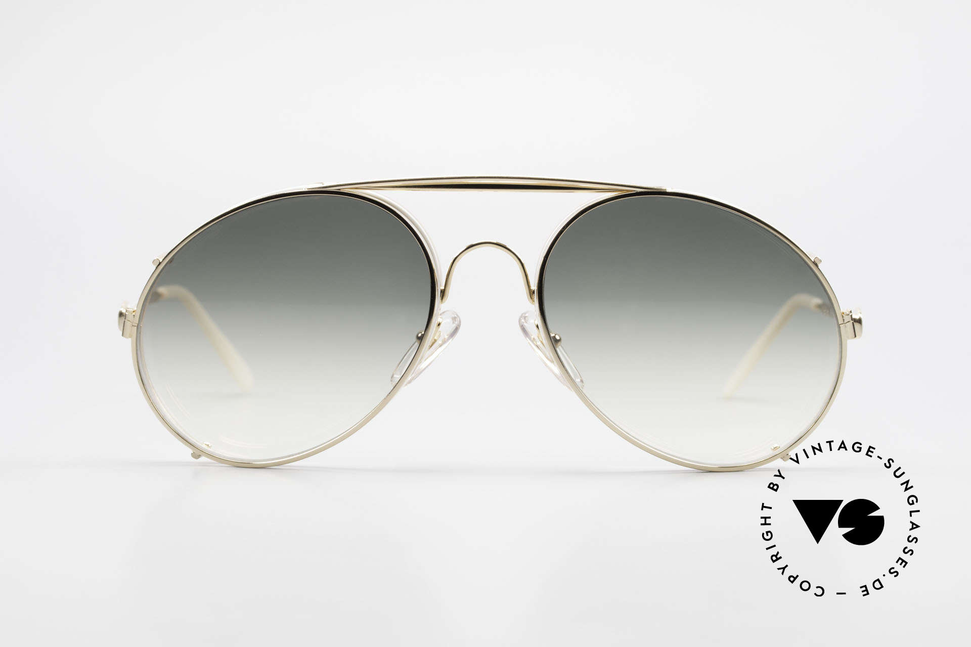 Bugatti 65987 XL 80's Vintage Frame Clip On, legendary vintage BUGATTI 'tear drop' design, Made for Men