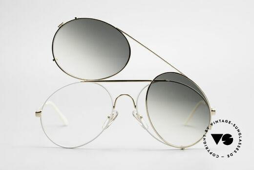Bugatti 65987 XL 80's Vintage Frame Clip On, unworn; like all our vintage Bugatti sunglasses, Made for Men