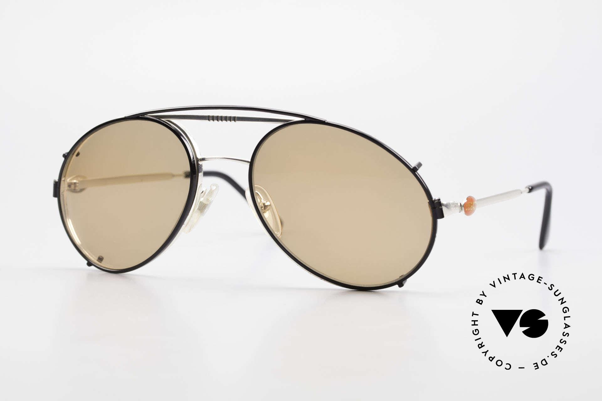 Bugatti 65996 Vintage Frame With Clip On, rare VINTAGE Bugatti 80's luxury sunglasses, Made for Men