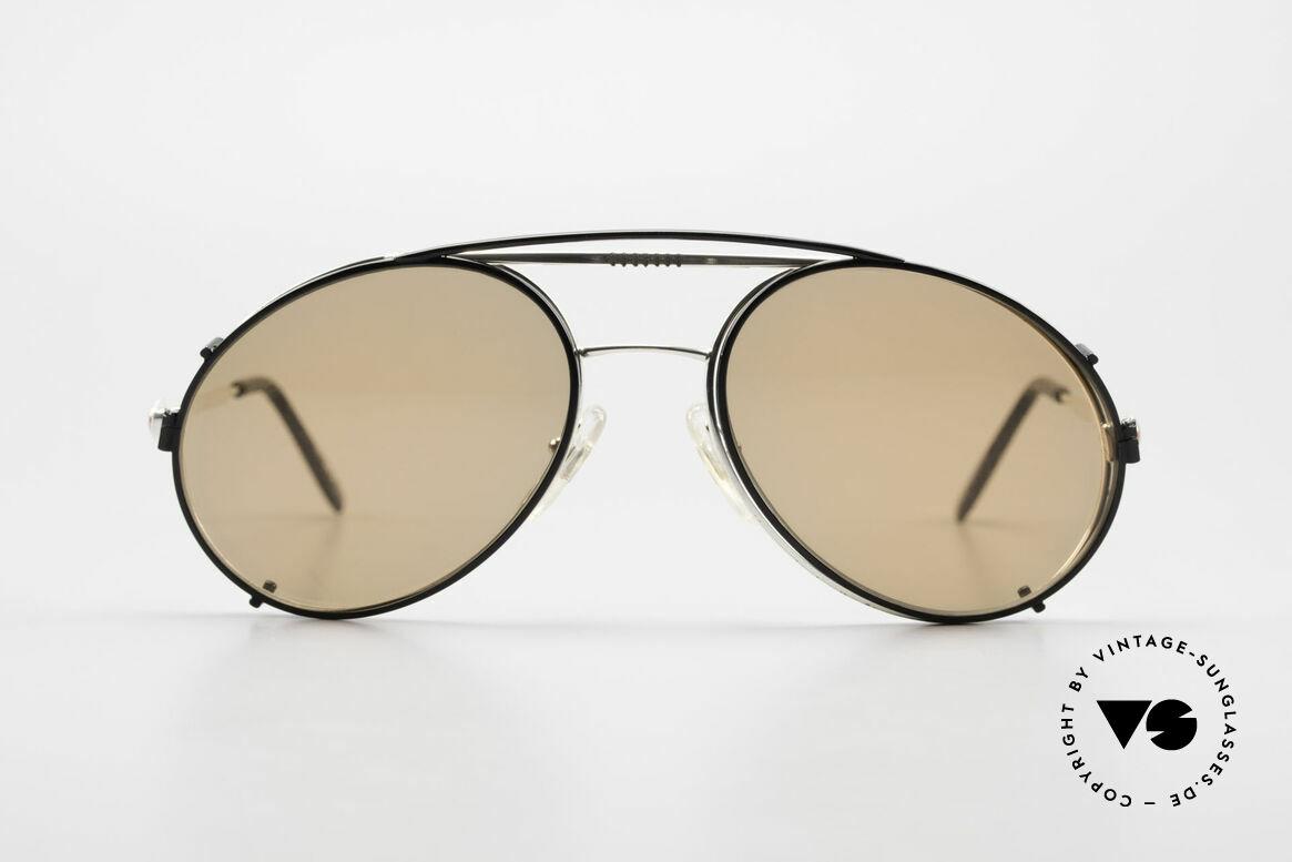 Bugatti 65996 Vintage Frame With Clip On, legendary vintage BUGATTI 'tear drop' design, Made for Men
