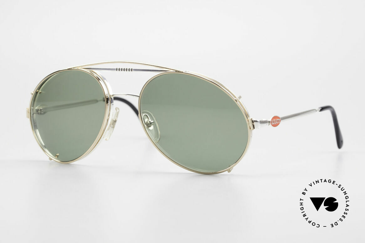 Bugatti 65996 80s Vintage Frame With Clip On, rare VINTAGE Bugatti 80's luxury sunglasses, Made for Men