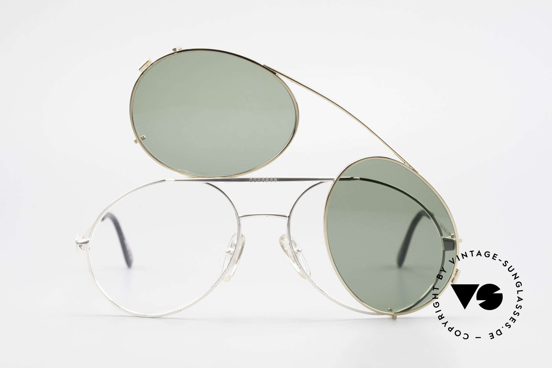 Bugatti 65996 80s Vintage Frame With Clip On, unworn; like all our vintage Bugatti sunglasses, Made for Men