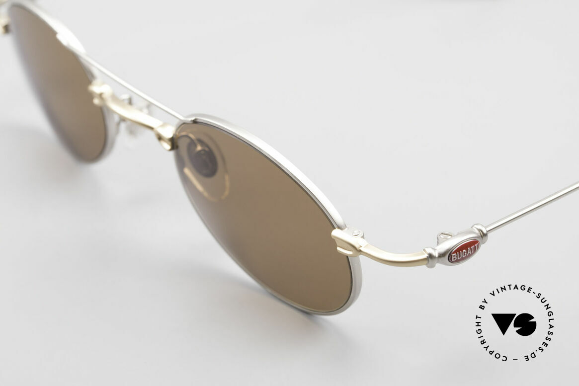 Bugatti 10868 Luxury Vintage Sunglasses 90s, unworn rarity of the late 90's (incl. Bugatti hard case), Made for Men