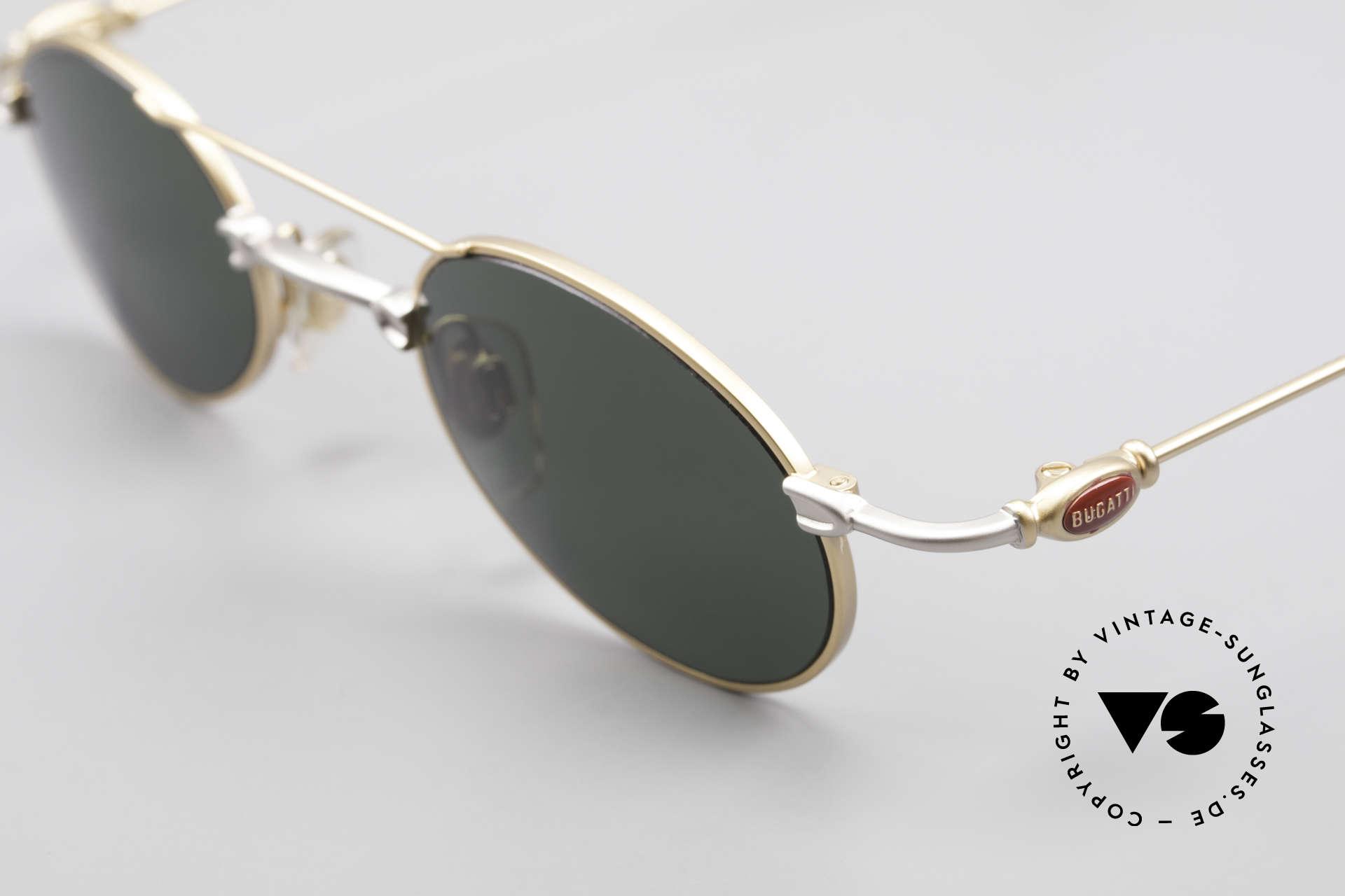 Bugatti 10868 Luxury Vintage Sunglasses Men, unworn rarity of the late 90's (incl. Bugatti hard case), Made for Men