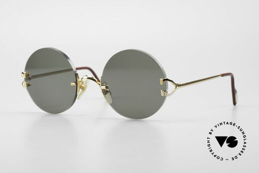 Cartier Madison Round Luxury Sunglasses 90's Details