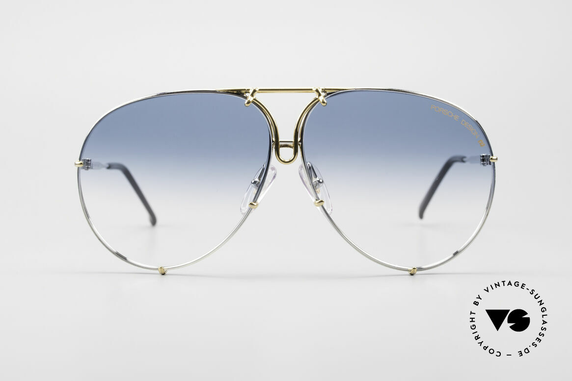 Porsche 5623 One Of A Kind 80's Customized, comes with extra blue-gradient lenses & Porsche case, Made for Men and Women