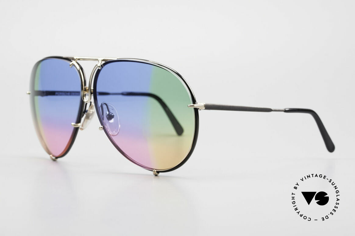 Porsche 5623 One Of A Kind 4times Gradient, customized: quadruple gradient blue/green/pink/orange, Made for Men and Women