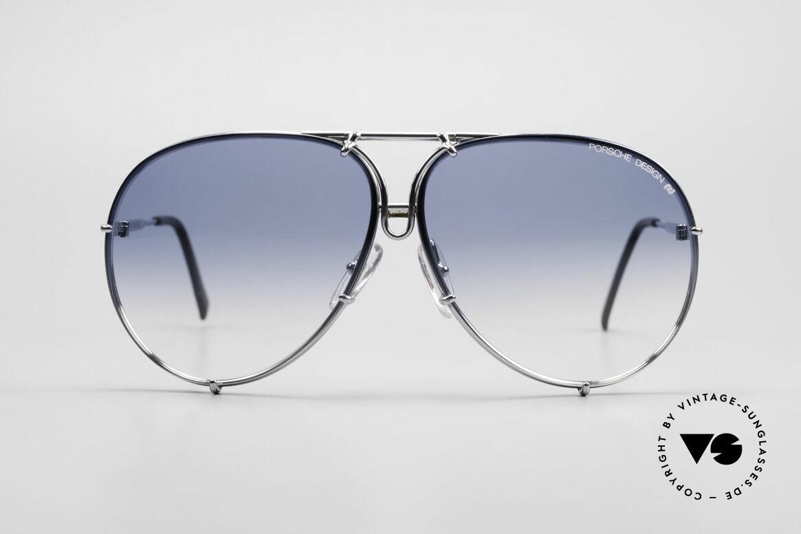 Porsche 5623 Collector's Sunglasses Vertu, comes with extra blue-gradient lenses & Porsche case, Made for Men and Women