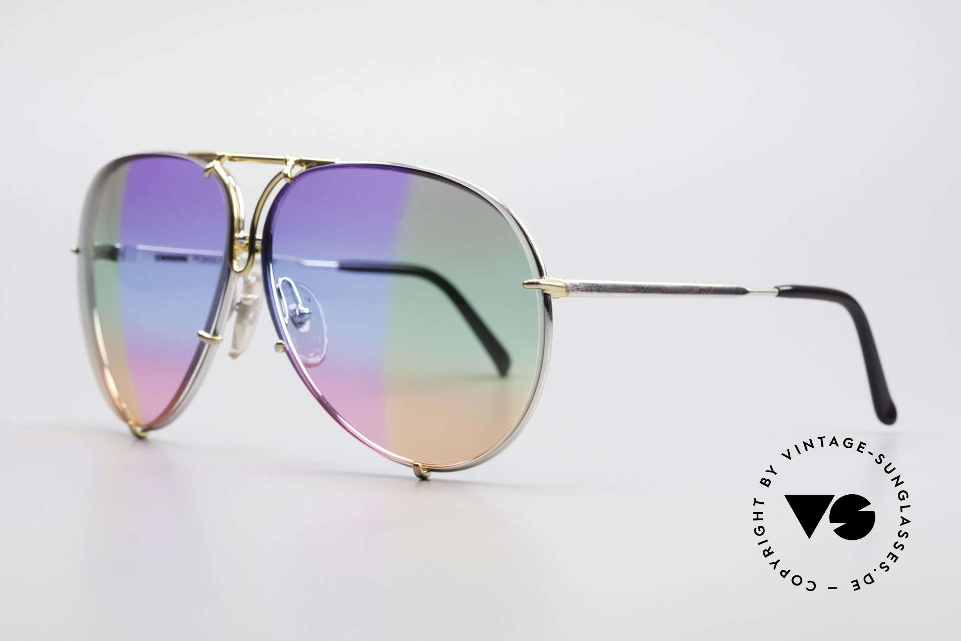 Porsche 5623 One Of A Kind 6times Gradient, sextuple colored: purple/blue/pink olive/green/yellow, Made for Men and Women