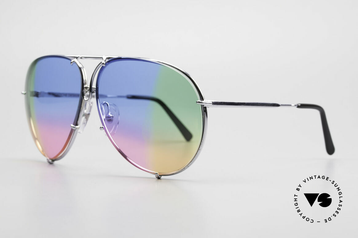 Porsche 5623 One Of A Kind 4times Colored, customized: quadruple colored blue/pink/green/yellow, Made for Men and Women