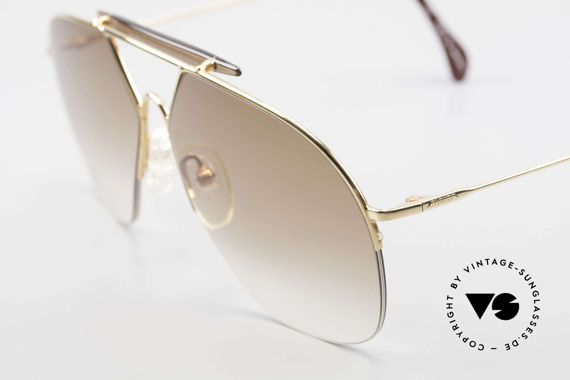 Alpina TR8 Rimless 80's Aviator Frame, half rimless = lightweight & very pleasant to wear, Made for Men