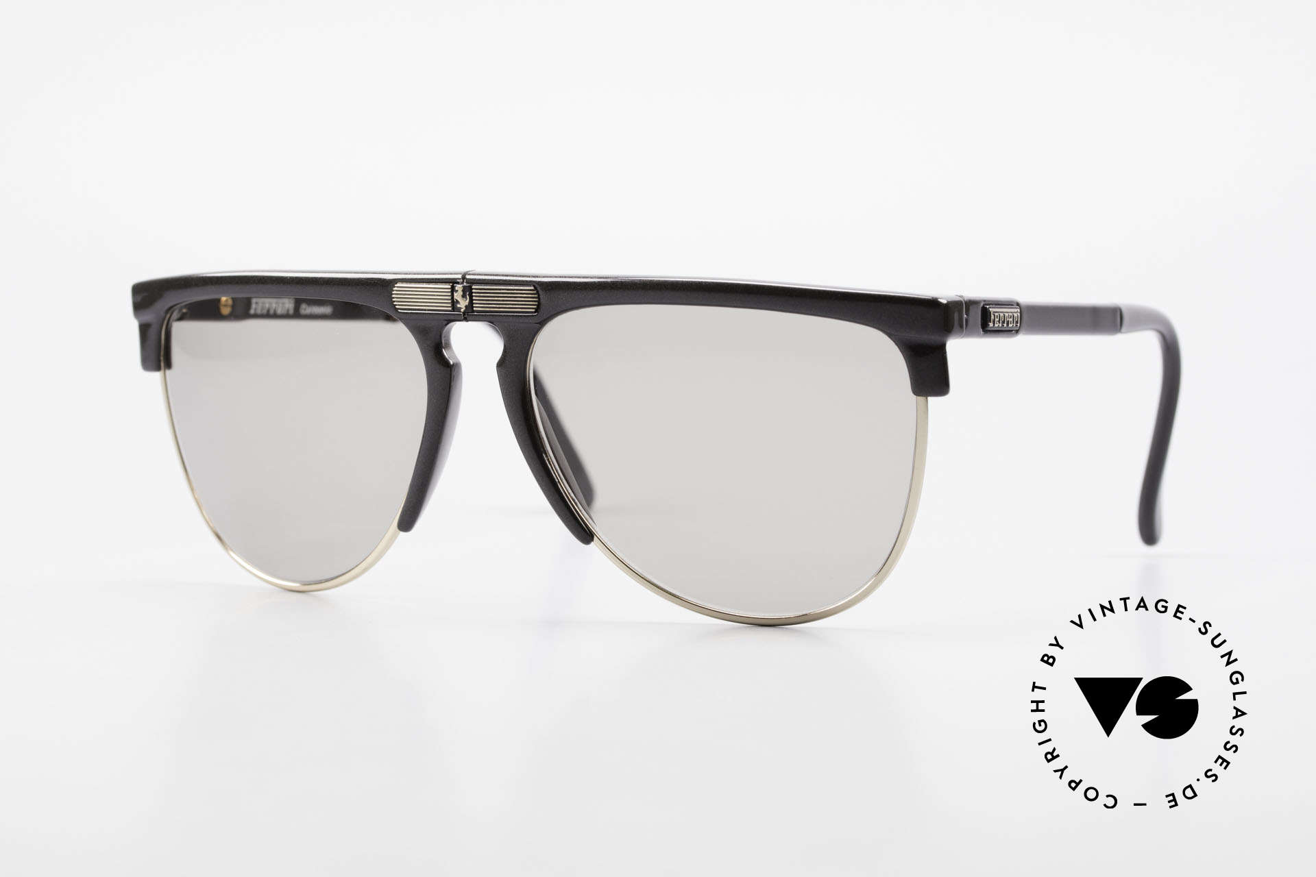 Ferrari F27/S Carbonio Folding Shades 90's, luxury folding sunglasses by Ferrari from the 90's, Made for Men