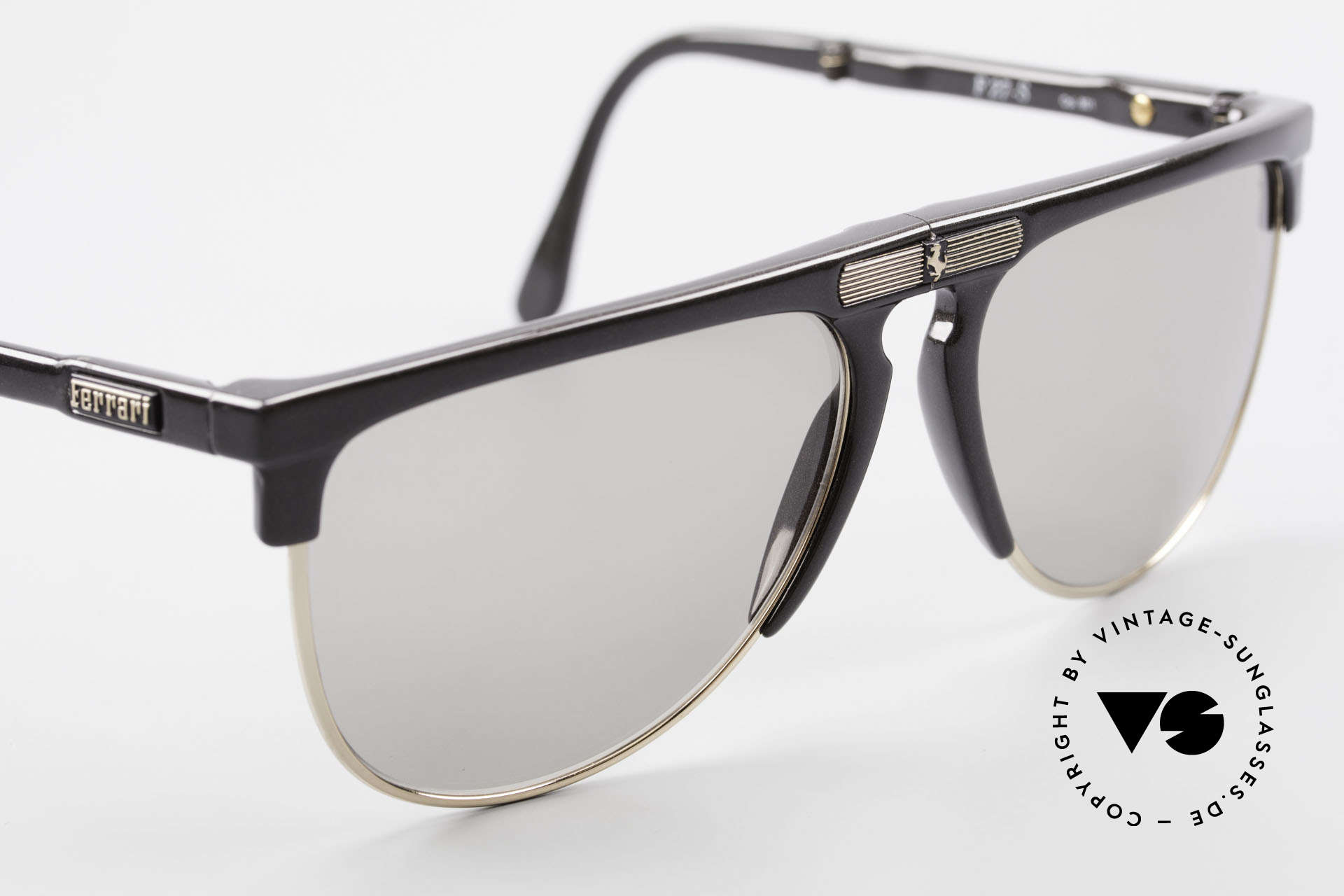 Ferrari F27/S Carbonio Folding Shades 90's, unworn (like all our rare Ferrari folding sunglasses), Made for Men