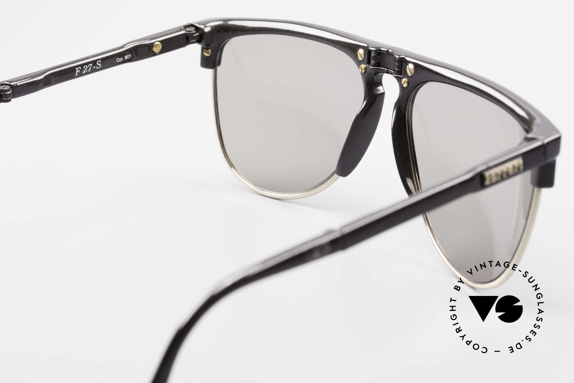 Ferrari F27/S Carbonio Folding Shades 90's, NO RETRO shades; an old 90's rarity with orig. case, Made for Men