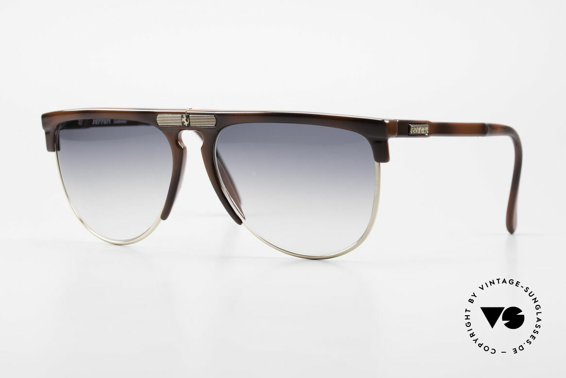 Ferrari F27/S 90's Carbonio Folding Shades, luxury folding sunglasses by Ferrari from the 90's, Made for Men