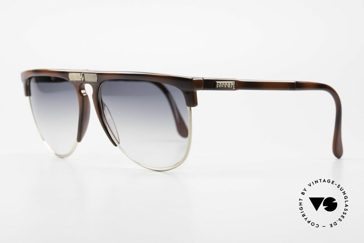 Ferrari F27/S 90's Carbonio Folding Shades, high-class carbon frame and finest Italian quality, Made for Men