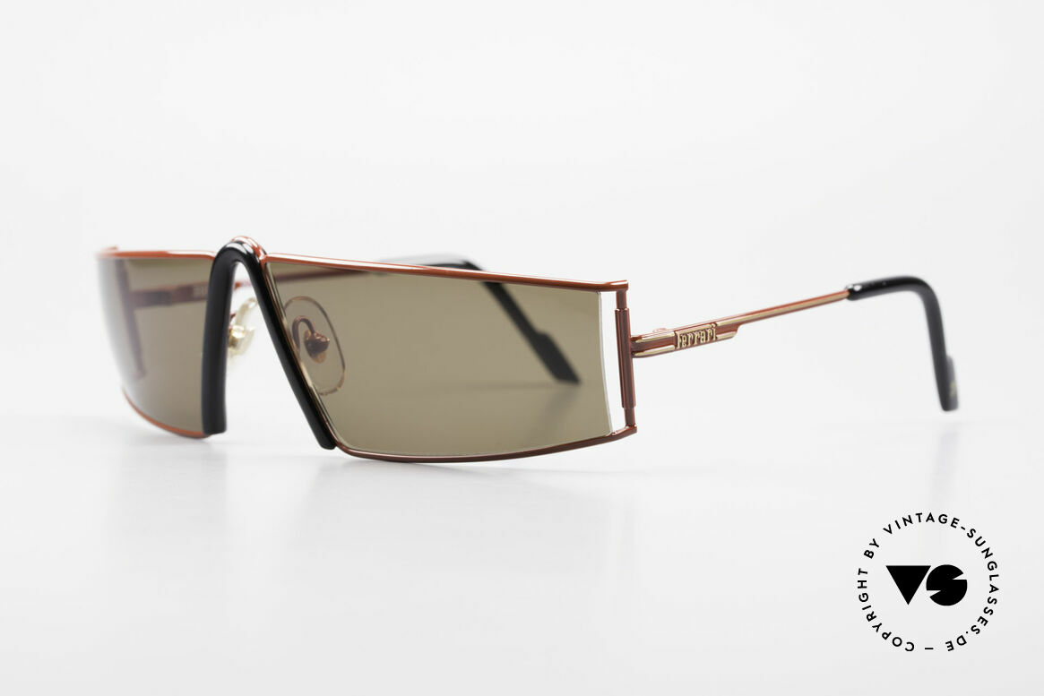 Ferrari F19/S Shades Like XL Reading Glasses, striking & elegant at the same time (67/12, col 580), Made for Men