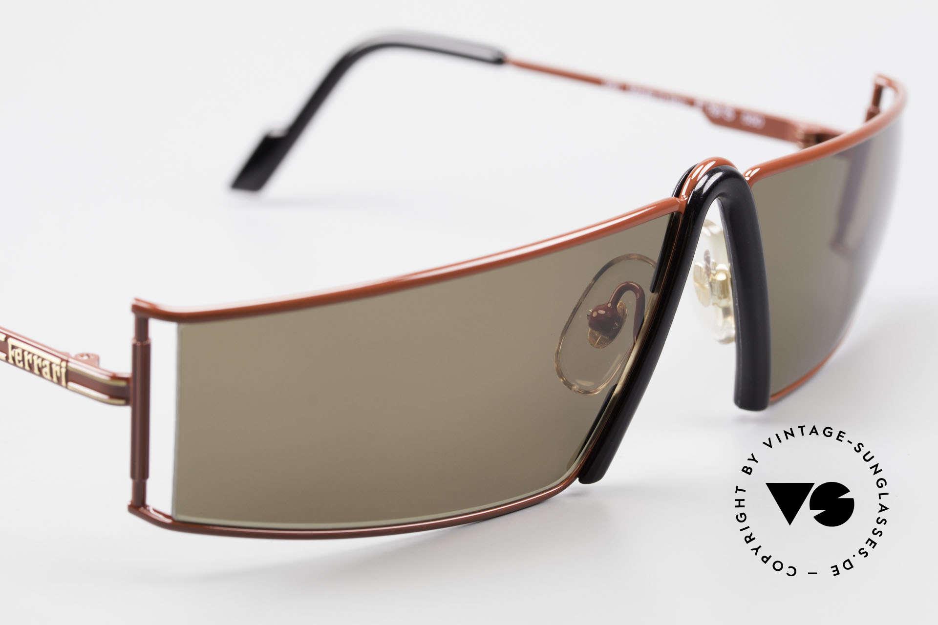 Ferrari F19/S Shades Like XL Reading Glasses, never worn (like all our rare vintage Ferrari shades), Made for Men