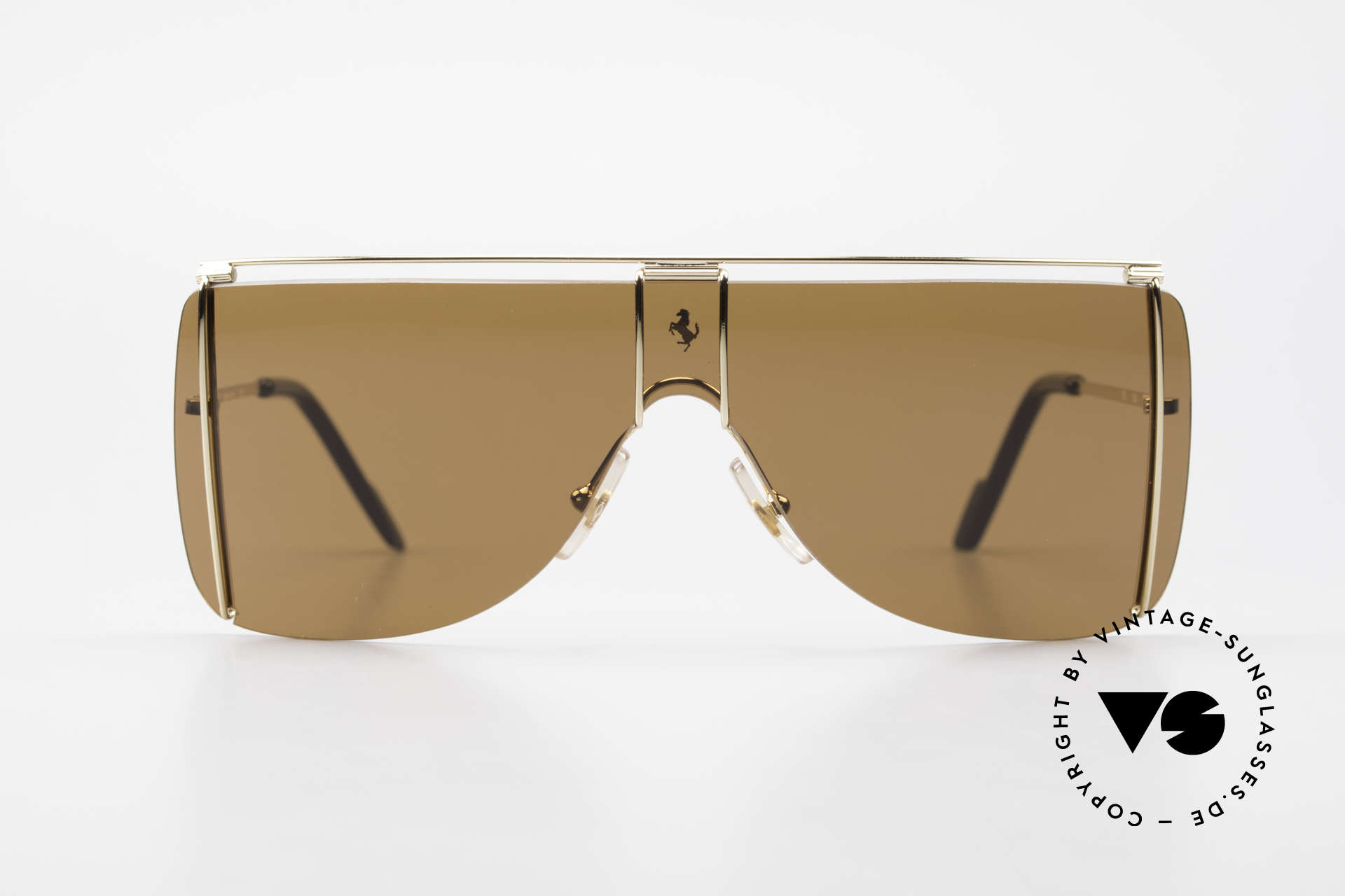 Ferrari F20/S Kylie Jenner Sunglasses, panorama view design with only one single lens, Made for Men and Women