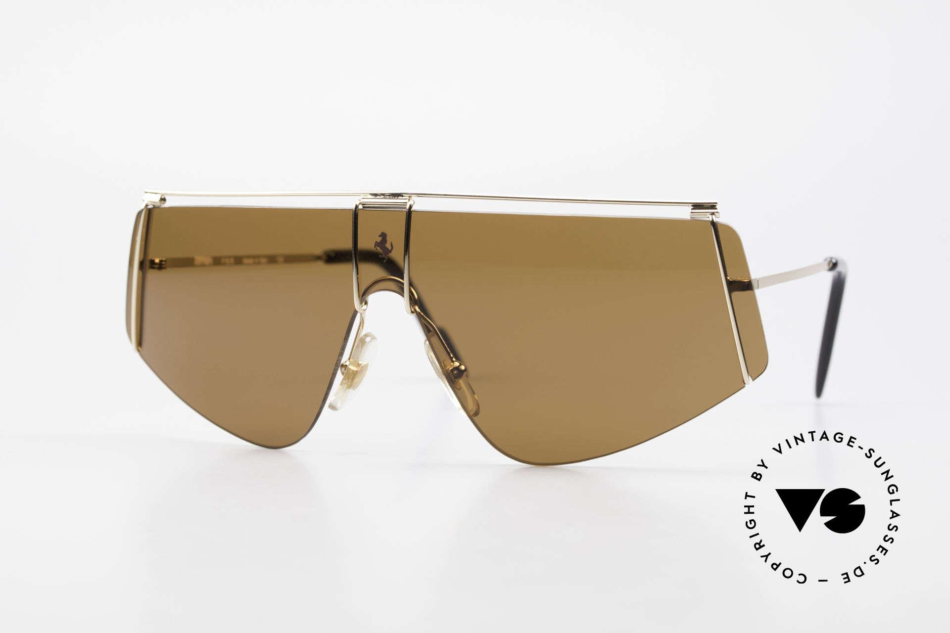 Ferrari F15/S Luxury Sports Sunglasses 90's, sporty 90's luxury sunglasses by famous Ferrari, Made for Men and Women