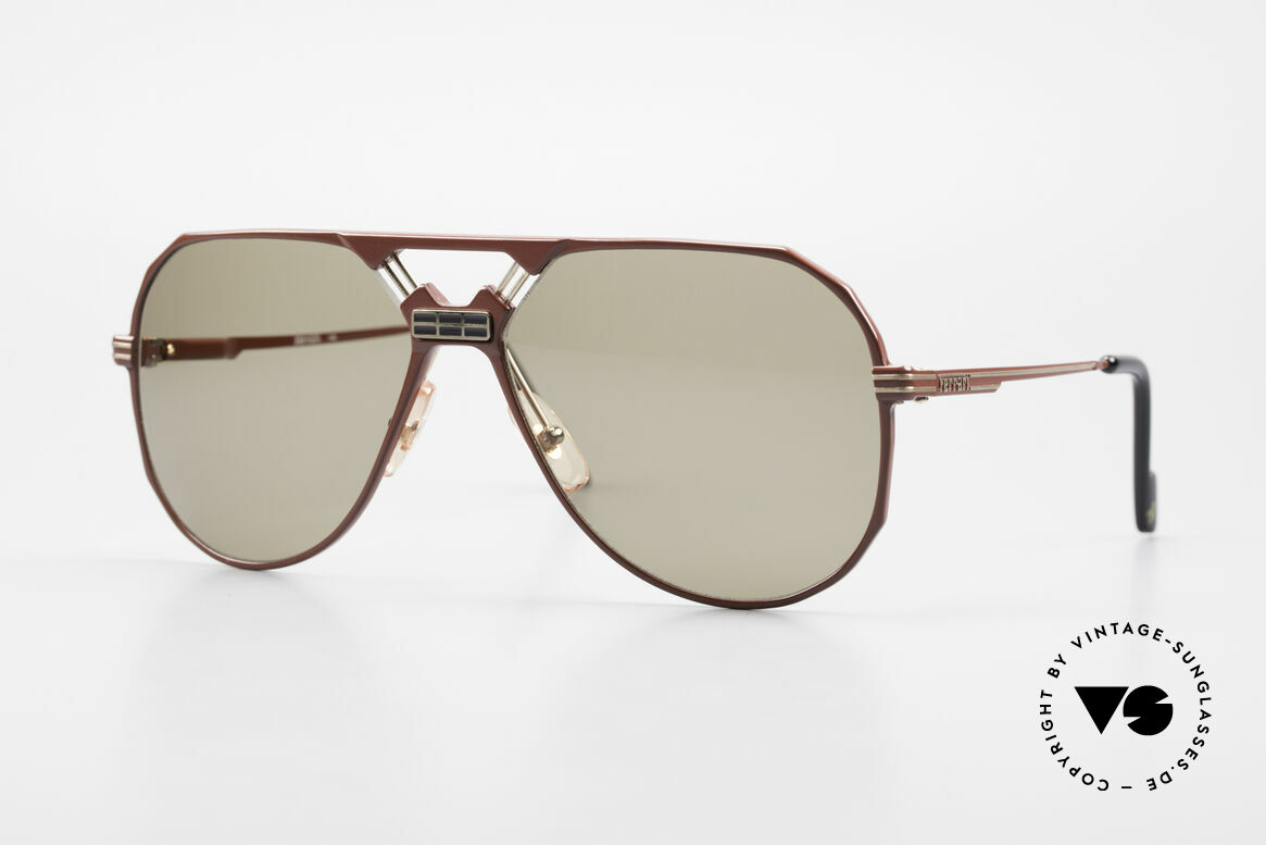 Ferrari F23/S 90's Sports Aviator Sunglasses, very masculine aviator-shades by famous FERRARI, Made for Men