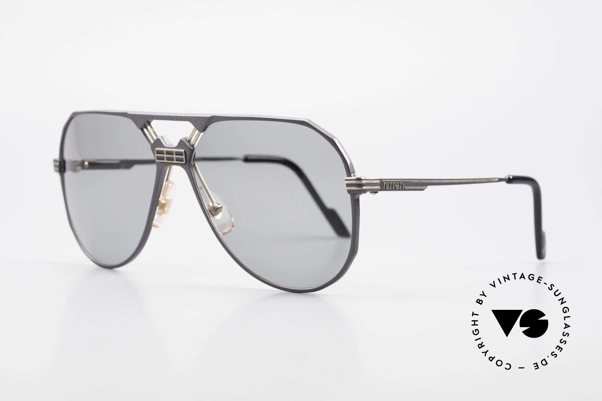 Ferrari F23/S 90's Aviator Sports Sunglasses, noble frame design (hybrid between sport & chic), Made for Men