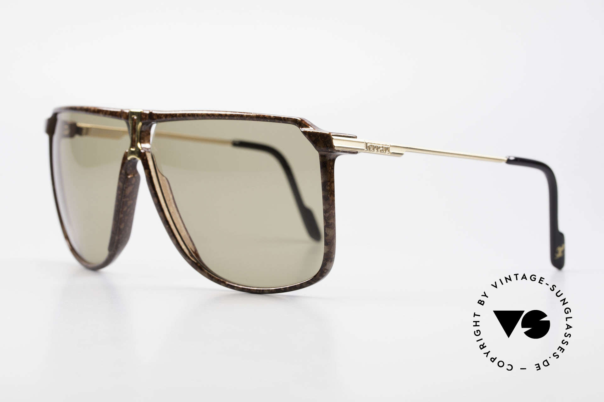 Ferrari F37/S 90's XL Sunglasses Carbonio, high-class carbon frame in 56mm height = XL shades, Made for Men