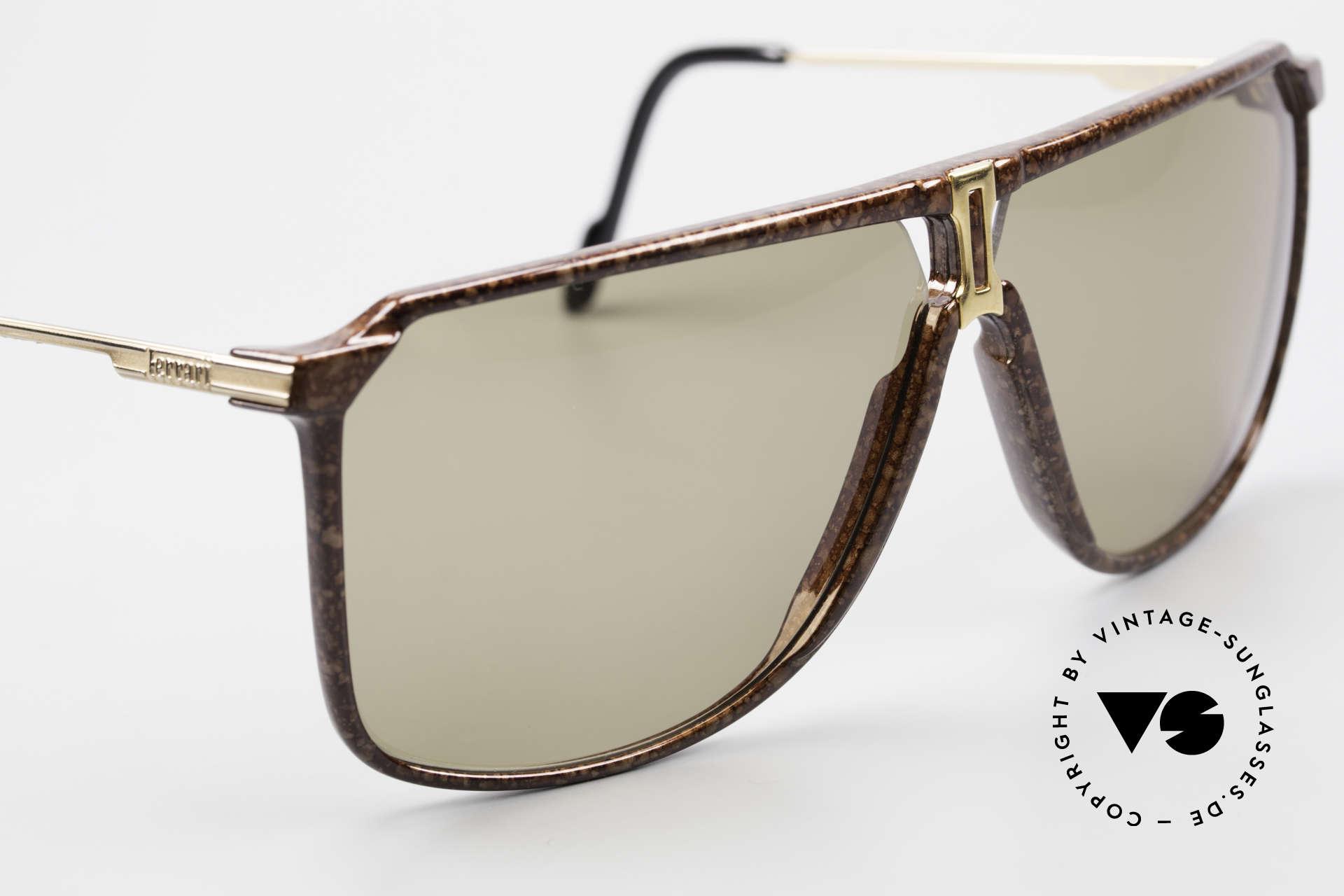 Ferrari F37/S 90's XL Sunglasses Carbonio, unworn (like all our rare Ferrari designer sunglasses), Made for Men