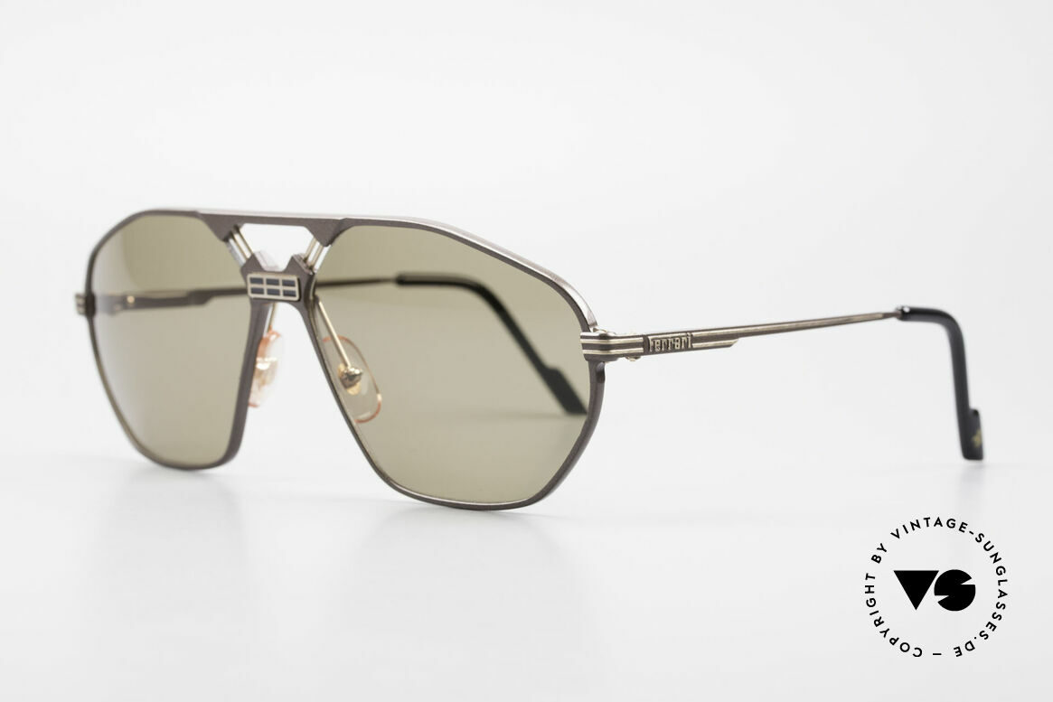 "Ferrari F22/S Men's Rare Vintage XL Shades, modified ""aviator sunglasses""; flexible spring hinges, Made for Men"