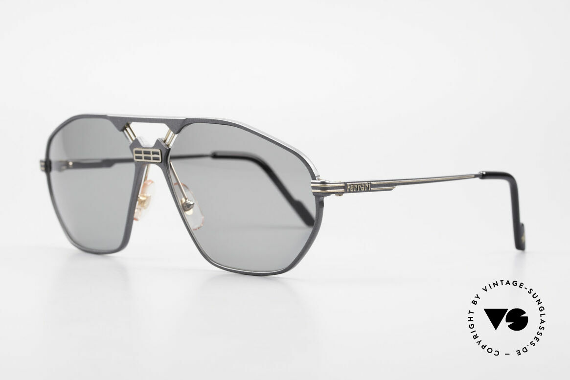 "Ferrari F22/S Men's Rare Vintage Shades XL, modified ""aviator sunglasses""; flexible spring hinges, Made for Men"