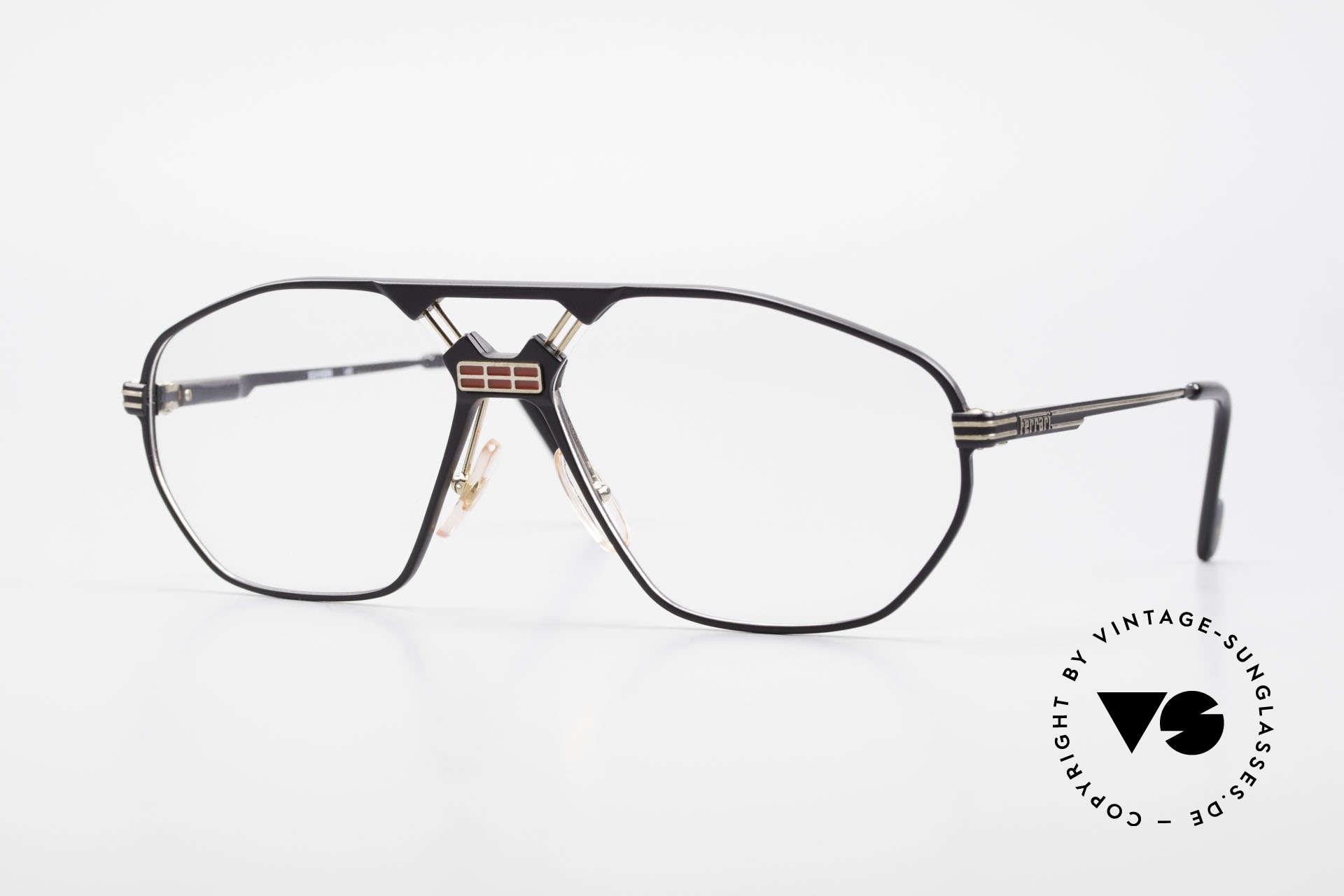 Ferrari F22 Men's Rare Vintage Glasses 90s, luxury designer eyeglasses by Ferrari from 1992/93, Made for Men