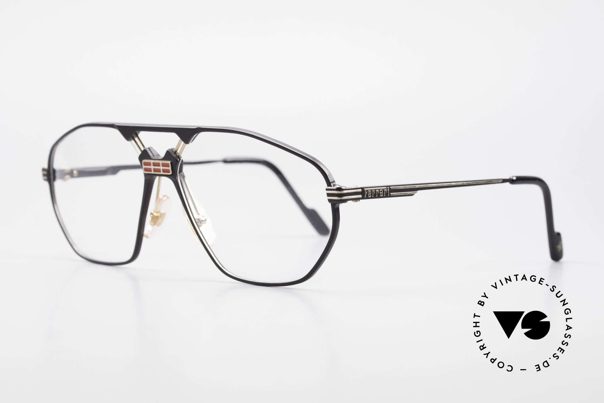 """Ferrari F22 Men's Rare Vintage Glasses 90s, modified """"aviator eyeglasses""""; flexible spring hinges, Made for Men"""
