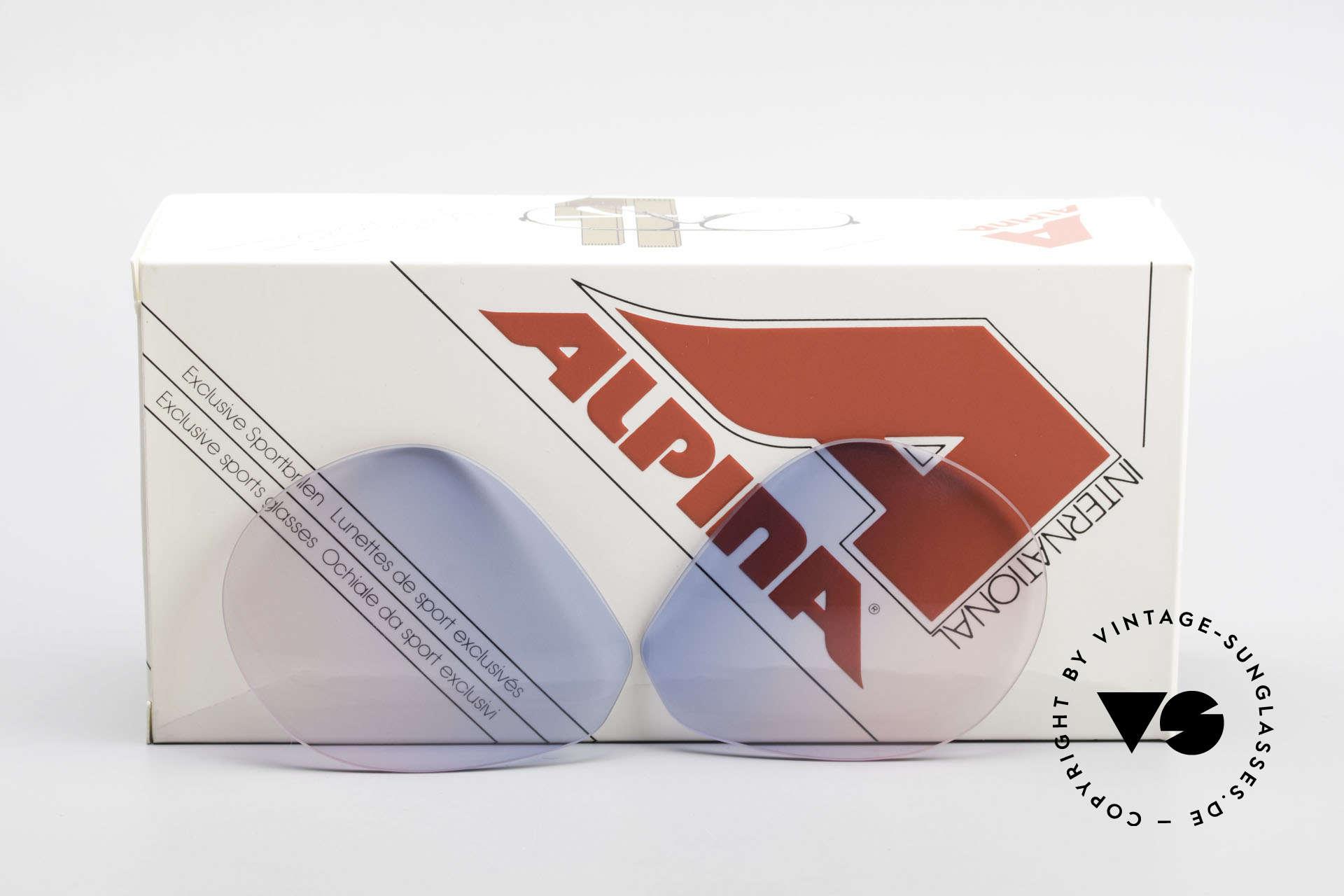 Alpina M1 Lenses New Lenses in baby-blue pink, new CR39 UV400 plastic lenses (for 100% UV protection), Made for Men and Women